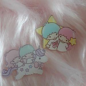 - Kawaii Sanrio 2 little twin stars necklace b…